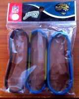 JACKSONVILLE JAGUARS RUBBER BRACELETS (3 PACK) Forever Collectibles NEW