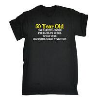50 Year Old One Careful Owner T-SHIRT Dad Grandad Joke Tee Gift birthday funny