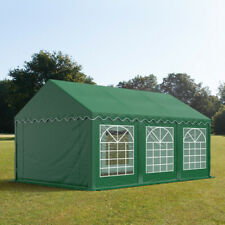 Marquee 4x6m dark green solid PVC 500g/m² party tent waterproof easy to assemble