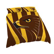 Hawthorn Hawks AFL DOUBLE Bed Quilt Doona Duvet Cover Set NEW 2018* GIFT