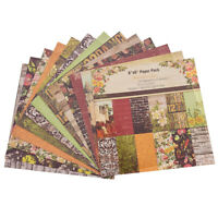 12 Sheets Scrapbooking Paper Art Background Paper Card Handmade Making Crafts