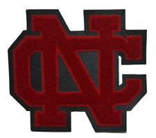 Varsity Letterman Letters NC Red And Black Cloth High School
