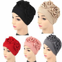 Women Lady Muslim Cancer Chemo Hat Beanie Scarf Turban Head Wrap Cap New