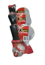 New Lot Of 3 Scotch 3m Packaging Tape Gun Dispensers Heavy Duty Tape Rolls
