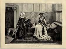 1892 da dipinto di Wilhelm geets visita di condoglianze Alla Vedova