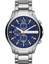 ARMANI EXCHANGE Herren Armbanduhr Uhr silber blau AX2155 Chronograph Neu