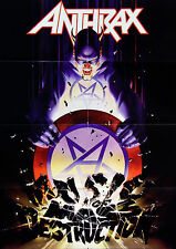 Anthrax 2004 Music Of Mass Destruction Original Machine Folded German Poster