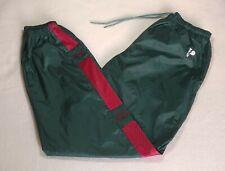 Vintage 90s Seattle Supersonics Pro Player Nylon Track Pants Green Size Men's L