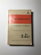 The Scarlet Letter by Nathaniel Hawthorne 1950 Paperback Modern Library College