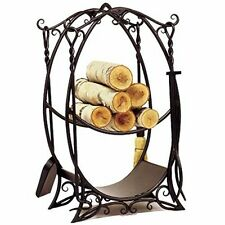 Achla Cottage Wood Holder w/Tools Wrought Iron- Lcr-10 Wood Holder New