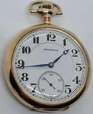 Antique Working 1921 ILLINOIS Burlington 21J Railroad RR Grade Pocket Watch 107
