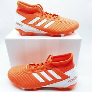 Adidas Womens Predator 19.3 FG W Soccer Shoes Orange White G25819 Cleats 8 New