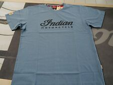 Indian Motorcycle Mens Logo Tee blue, Gr. 2XL