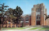 1958 C.K Preus Gymnasium LUTHER COLLEGE Decorah IA  postcard B64