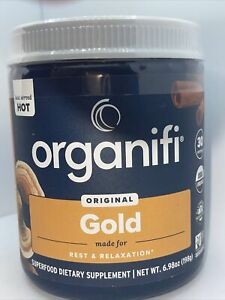 Organifi GOLD Gently Dried Superfood Tea Turmeric and Reishi Infused NEW