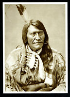 ⫸ 971 Postcard Two Strike, Sioux War Chief – 1875  Photo Alexander Gardner – NEW