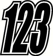 """Carrera números 6"""" y 5"""" x3 Pegatinas De Vinilo/calcomanías Moto Motocross"""