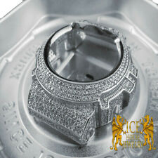Men's Casio G Shock 6900 Series White Gold Finish Simulated Diamond Case Bezel