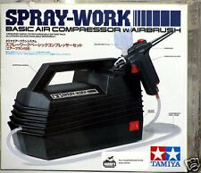 Tamiya 74520 Spray-Work Basic Compressor - w/Airbrush