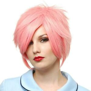 Hot Strawberry Blonde Anime Wig Pink Fancy Dress Halloween Costume Accessory