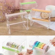 Japanese Stationery Masking Tape Cutter Wash Tape Storage Organizer Cut Pssexru