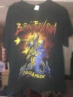 Heavy Metal Burning Fair Verona Rock Cotton Concert Band T-Shirt Black Size L