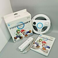 Mario Kart (Nintendo Wii) Big Box Bundle Original Steering Wheel with Controller
