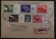 1944 Hardenburg Germany Registered Cover To Landau Stamps #875-79