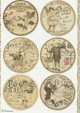 Rice Paper for Decoupage Decopatch Scrapbook Craft Sheet Old Christmas Cards