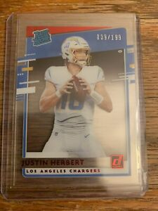2020 Panini Chronicles Donruss CLEAR Rated Rookie Justin Herbert 039/199 RED 🔥