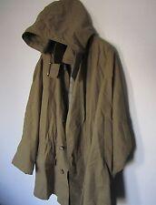 Vtg Georgio Armani Jacket Olive Green Parka Rain Coat Size Large
