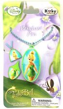 Disney Fairies Tinker Bell Mini Pen Fairies Chain Necklace Jewelry Pendant Tag 1