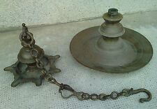 lampe a huile sept bec ancienne inde indian lamp oil bronze 7 hanging temple ?