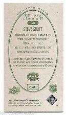 11/12 PARKHURST CHAMPIONS CHAMP'S MINIS GREEN BACK PARALLEL Steve Shutt #30