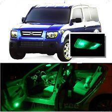 For Honda Element 2003-2008 Green LED Interior Kit + Green License Light LED