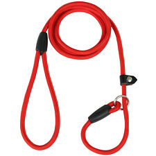 DIGIFLEX Red Anti Slip Dog Lead Nylon and Cotton Training Durable Adjustable Col