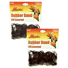 Hair Rubber Band PonyTails Braids Magic ( QTY 550 ) Brown - B2G1 FREE! _144-08N