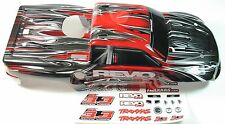 NEW 2.4GHZ RED REVO 3.3 TRAXXAS PAINTED BODY STICKERS