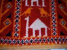Old African Morocco ATLAS camel Runner Maroc coureur tapis marocain vieux appliquent RARE