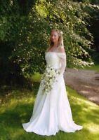 MEDIEVAL PAGAN WEDDING DRESS HAND FASTING DRESS IVORY CUSTOM MADE 8 10 12 14 16