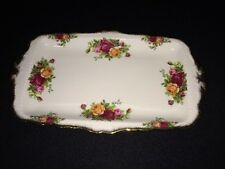 Royal Albert Bone China England OLD COUNTRY ROSES Sandwich Tray -- ANTIQUE!