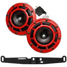 Hella Super Tone Horn Set B133 + Perrin Bracket for 08-14 Subaru Impreza WRX/STI