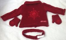 American Girl Winter Snowflake Sweater Mittens and Headband Tagged