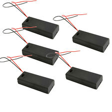 "5pcs New 2 AAA 3A Battery 3V Holder Box Case with ON/OFF Switch Black +6"" Leads"