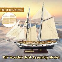 DIY Ship Assembly Model Classical Wooden Sailing Boat Scale Wood Kits XMAS Gift