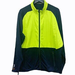 Ralph Lauren Men Size XXL Navy Yellow Full Zip Active Track Jacket NWT