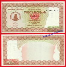 ZIMBABWE 200000 Dollars dolares 2003 2005 Pick 23 SC / UNC