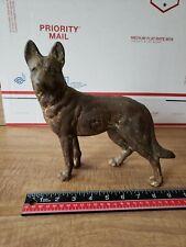 Vintage Hubley ? Cast Iron Left Facing German Shepherd Door Stop Dog.