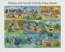 Palau Disney Mickey and Friends Visit the Palau Islands Souv. of 9 Stamps MNH