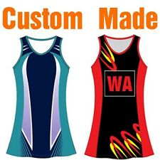 Custom Made Netball Dresses Bodysuits Tops Skirts Sublimation